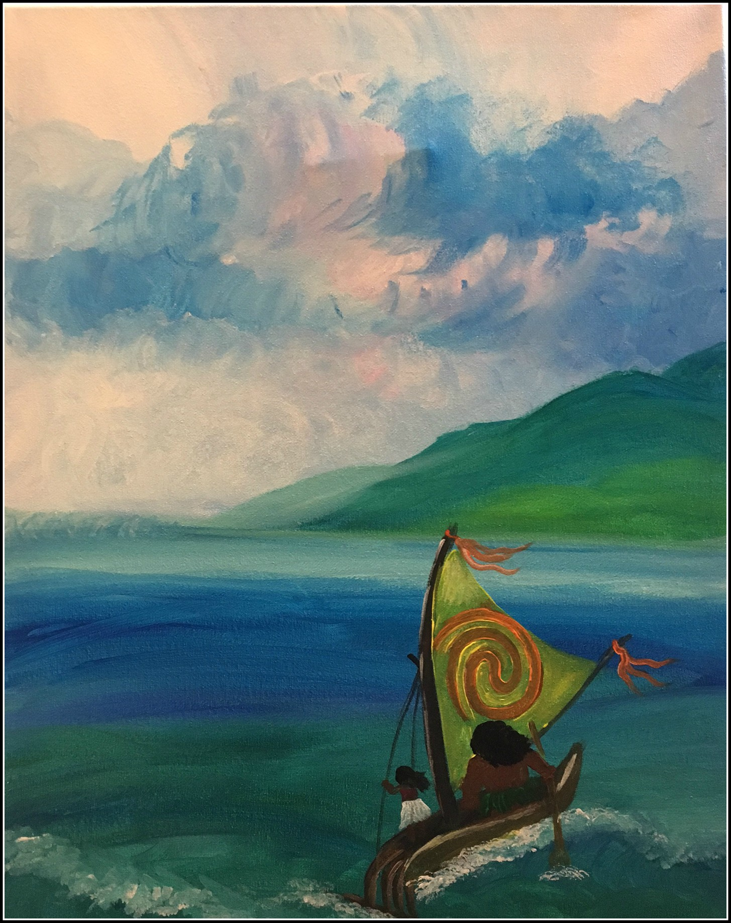Moana paint & sip painting