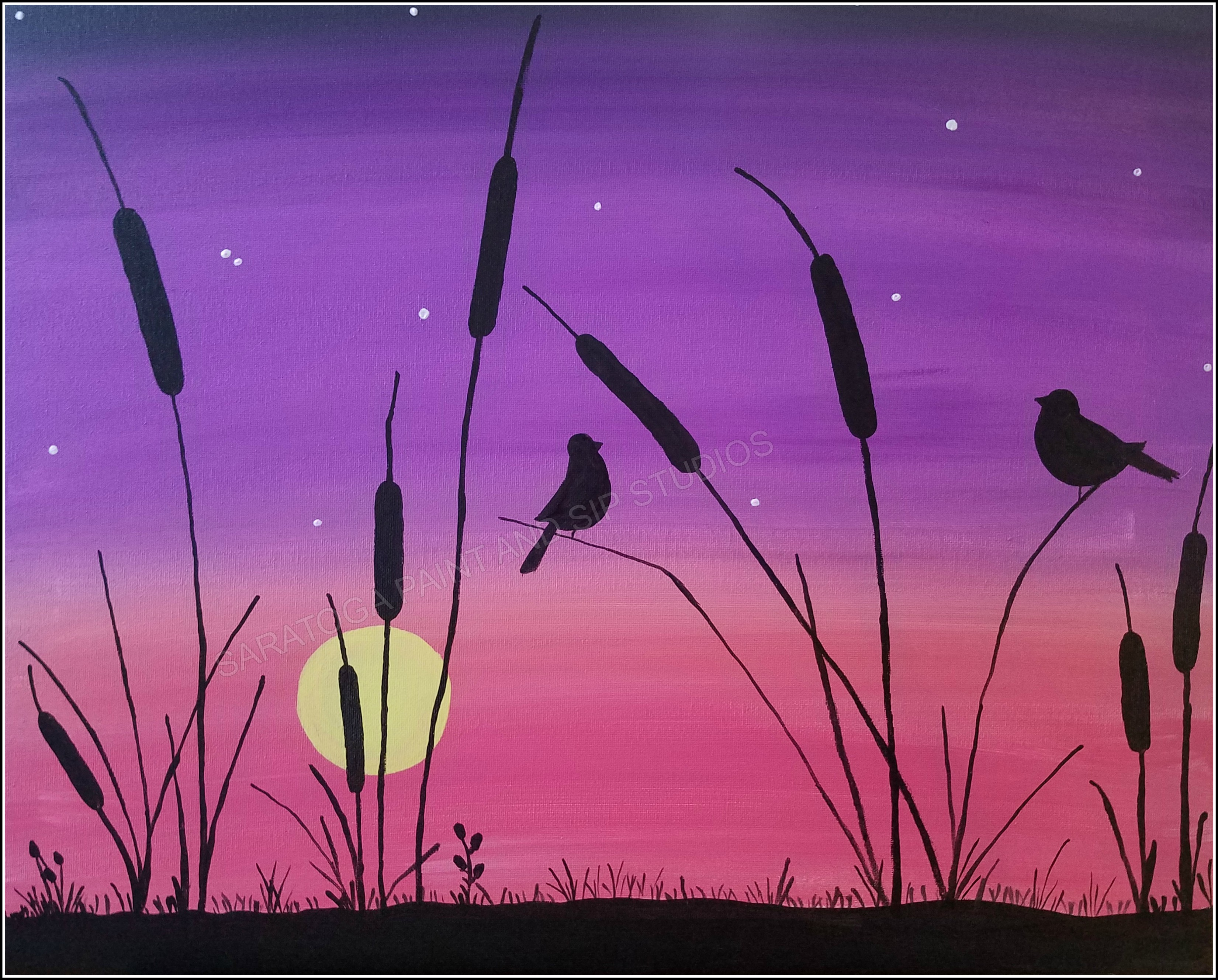 cattails saratoga paint and sip studio