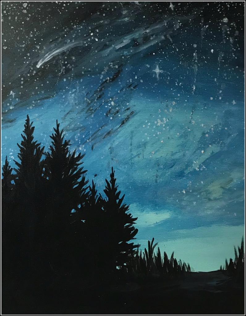Falling Stars Saratoga Paint And Sip Studio