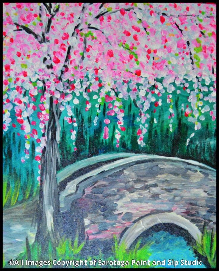 Weepy Cherry Tree Saratoga Paint And Sip Studio