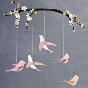 craft and sip paint and sip paper mobile birds